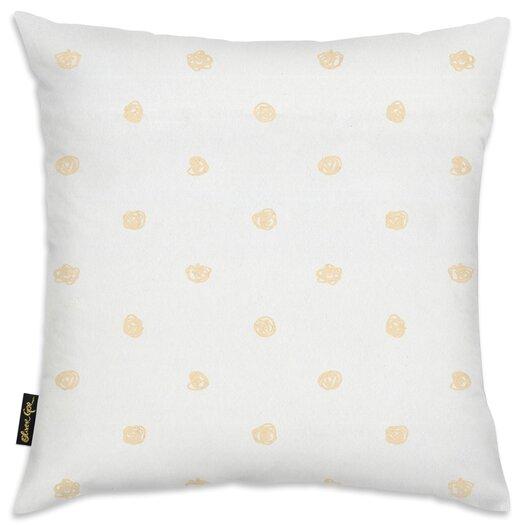 Easel Beige Dot Pattern Throw Pillow
