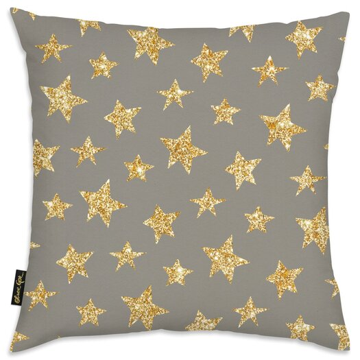 Easel Gold Stars Pattern Throw Pillow