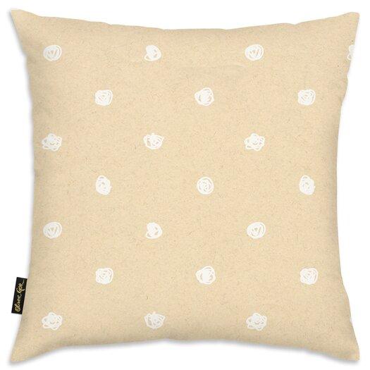 Easel White Dot Pattern Throw Pillow