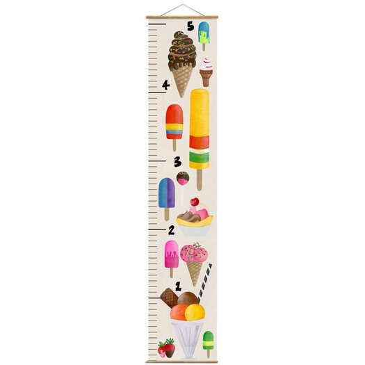 Olivia's Easel Ice Cream Growth Chart
