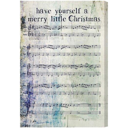 Artana Merry Little Christmas Textual Art on Canvas