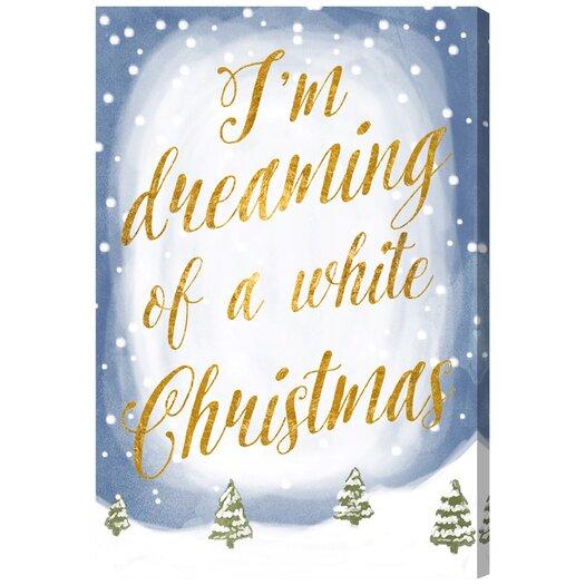 Artana White Christmas Textual Art on Canvas