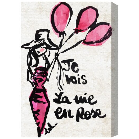 'La Vie En Rose' Painting Print on Wrapped Canvas