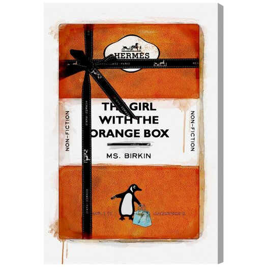 'The Girl with the Orange Box' Graphic Art on Canvas