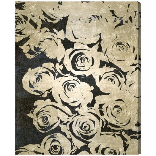 'Dark Rose' Painting Print on Canvas