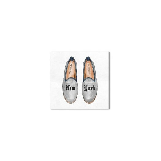 New York Slippers Painting Print on Canvas