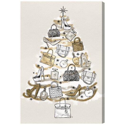 'Fashion Christmas' Painting Print on Canvas