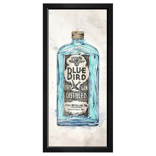 'Blue Bird Gin' by Hatcher & Ethan Framed Painting Print