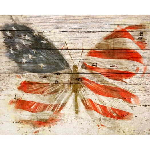 'American Butterfly' Painting Print