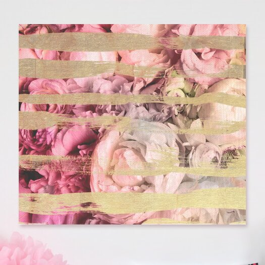 Oliver Gal Runway Avenue Fields Of Rose Graphic Art on Wrapped Canvas