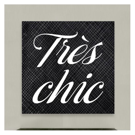 Oliver Gal Oliver Gal Tres Chic Textual Art on Canvas