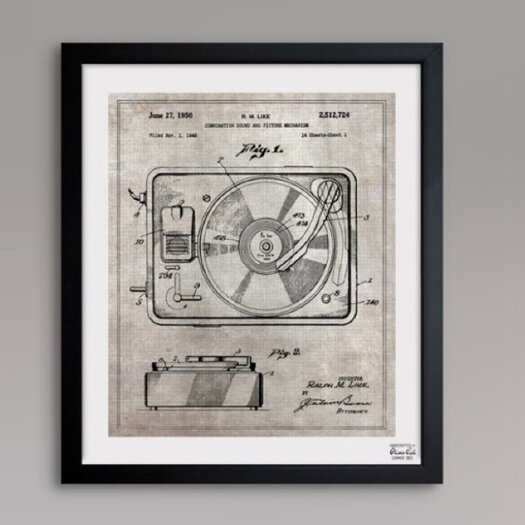 Oliver Gal Oliver Gal Combination Sound and Picture 1950 Framed Graphic Art