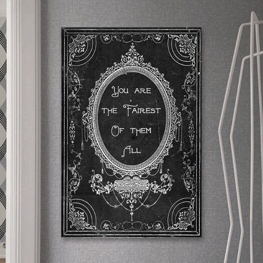Oliver Gal The Fairest Textual Graphic Art on Canvas