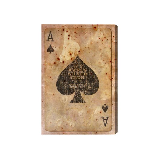 Oliver Gal Hatcher & Ethan Ace of Spades Graphic Art on Wrapped Canvas