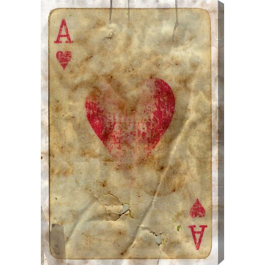Oliver Gal Hatcher & Ethan Ace of Hearts Graphic Art on Wrapped Canvas