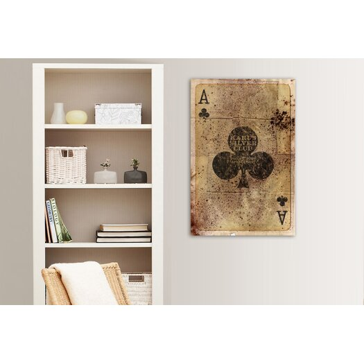 Oliver Gal Hatcher & Ethan Ace of Clubs Graphic Art on Wrapped Canvas