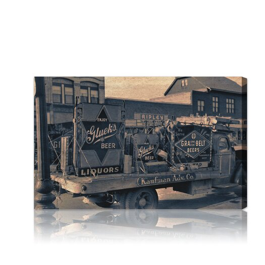 """Oliver Gal The Art Cabinet """"""""Beer Truck"""""""" Photographic Print on Canvas"""