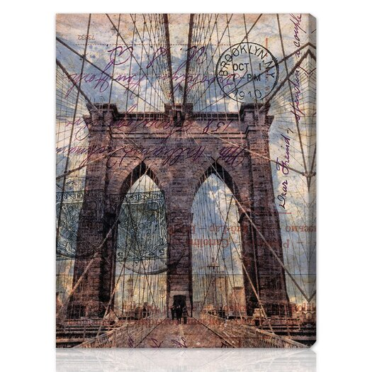 Canyon Gallery Brooklyn Bridge Graphic Art on Wrapped Canvas
