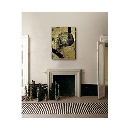 "Oliver Gal Hatcher & Ethan """"Calavera de Oro II"""" Graphic Art on Canvas"