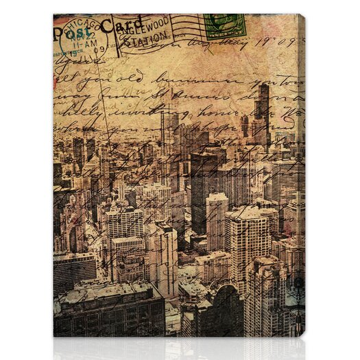 Canyon Gallery Chicago Skyline Graphic Art on Wrapped Canvas