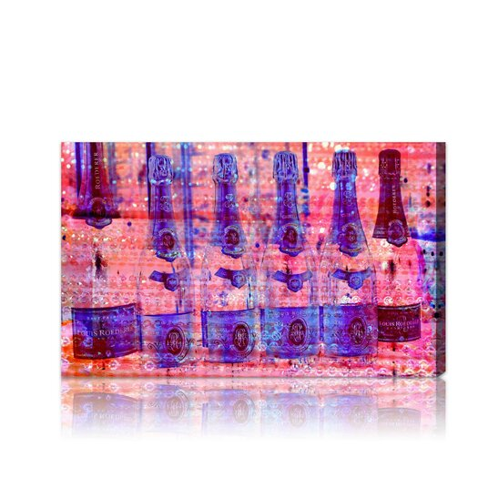 Runway Avenue Cristal on Crystal Rose Graphic Art on Wrapped Canvas