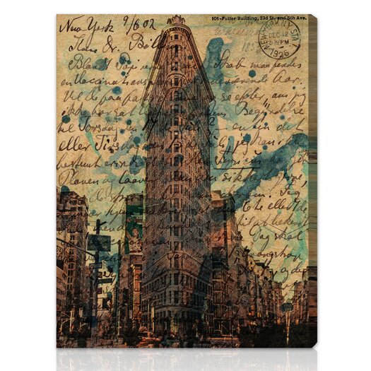 Oliver Gal Canyon Gallery Flat Iron Graphic Art on Wrapped Canvas