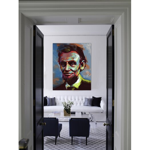 "Oliver Gal LAB Creative """"Lincoln"""" Graphic Art on Canvas"