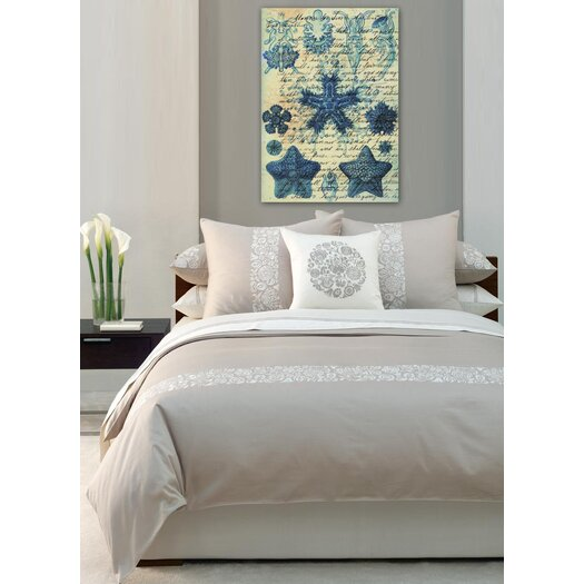 """Oliver Gal Artana """"""""Starfish in Blue"""""""" Graphic Art on Canvas"""