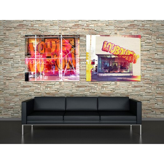 Oliver Gal Burst Creative Street Fashion Graphic Art on Wrapped Canvas