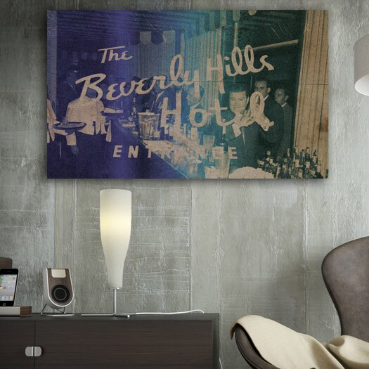 Oliver Gal Runway Avenue Cocktails at Beverly Vintage Advertisement on Canvas