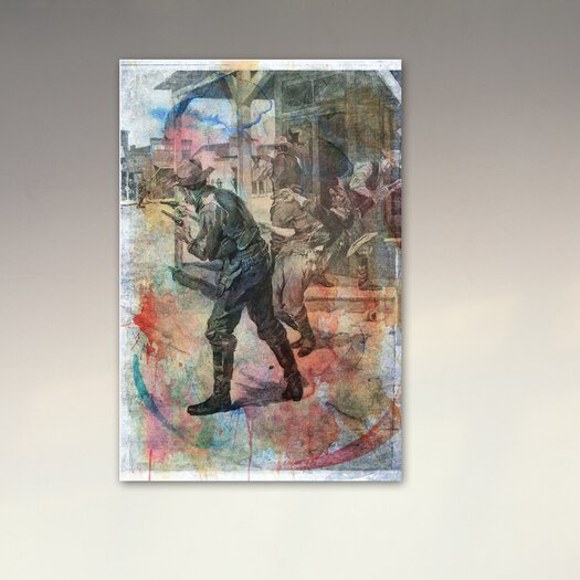 """Oliver Gal Canyon Gallery """"""""Coffeyville Bank Robbery"""""""" Graphic Art on Canvas"""