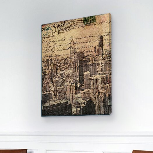 Oliver Gal Canyon Gallery Chicago Skyline Graphic Art on Wrapped Canvas