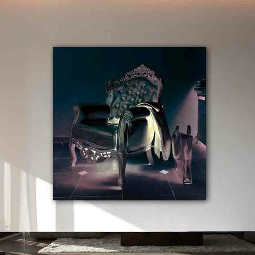 Oliver Gal Burst Creative Champagne Leather Graphic Art on Wrapped Canvas
