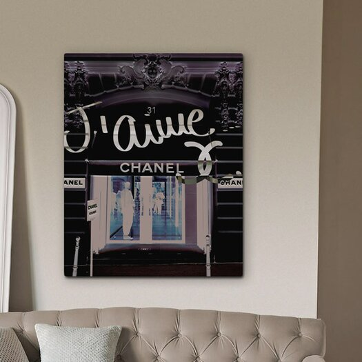 Oliver Gal Oliver Gal 31 Rue Cambon Graphic Art on Wrapped Canvas