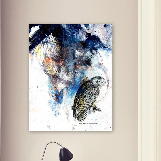"Oliver Gal Canyon Gallery ""Snowy Owl"" Graphic Art on Wrapped Canvas"
