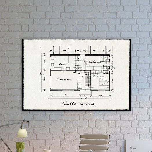 Oliver Gal Oliver Gal Dessins Architecturaux II Graphic Art on Wrapped Canvas