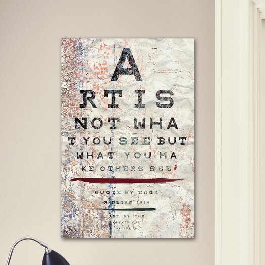 Oliver Gal LAB Creative Art is Textual Art on Wrapped Canvas