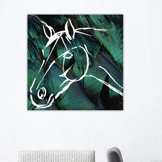 Oliver Gal Canyon Gallery Horse Graphic Art on Canvas