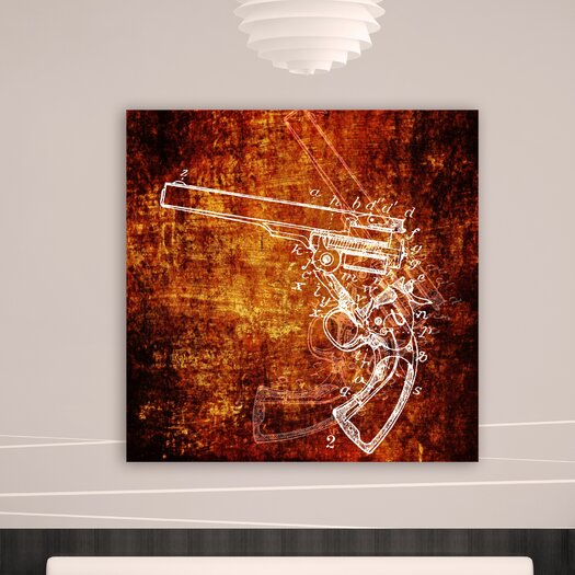 Oliver Gal Canyon Gallery Anatomy of a Gun Graphic Art on Wrapped Canvas