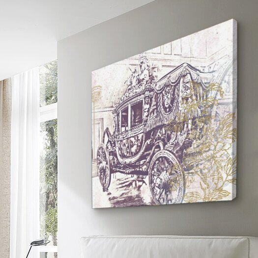Oliver Gal Canyon Gallery Charles X Carriage Graphic Art on Wrapped Canvas