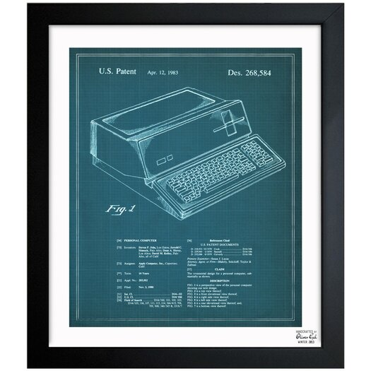 Oliver Gal Oliver Gal First Apple Personal Computer 1983 Framed Graphic Art