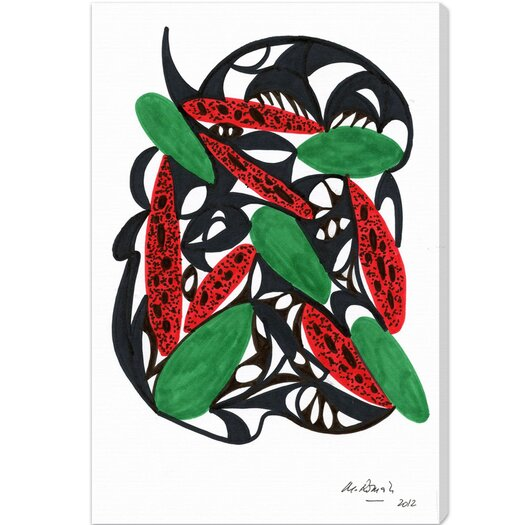 Oliver Gal Watermelon Still Life Graphic Art on Canvas