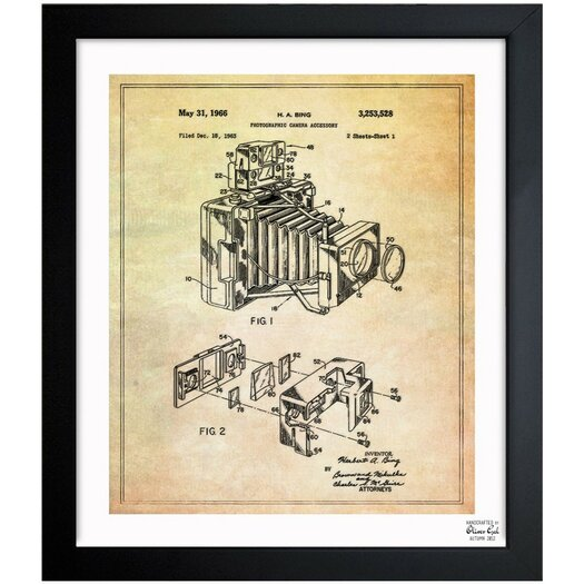 Oliver Gal Oliver Gal Bing Polaroid Camera Accessory 1966 Framed Graphic Art