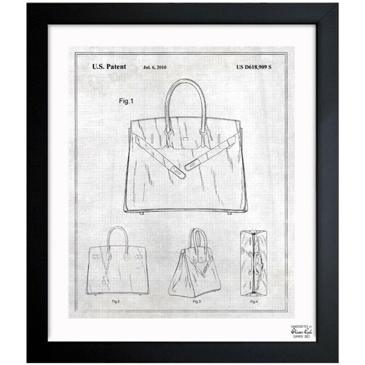 Oliver Gal Oliver Gal Birkin Handbag 2009 Framed Graphic Art