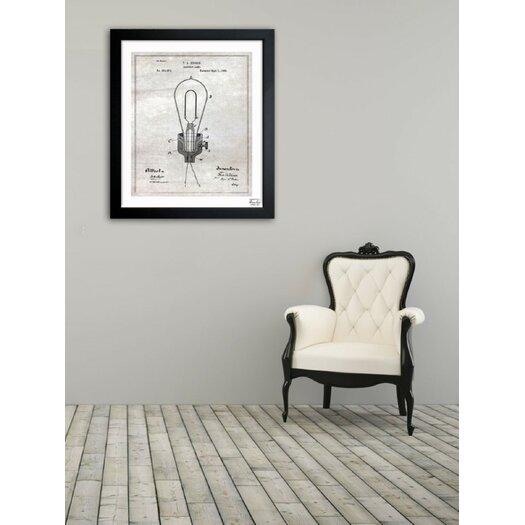 Oliver Gal Oliver Gal Edison Electric Lamp 1882 Framed Graphic Art
