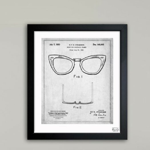 Oliver Gal Oliver Gal Ray-Ban Wayfarer Spectacle Frame 1953 Framed Graphic Art