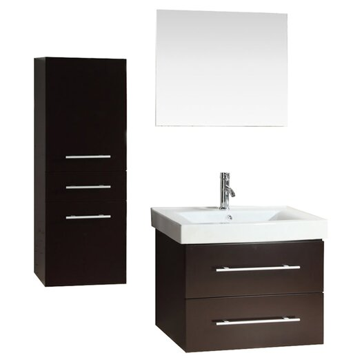 "Kokols 28"" Single Bathroom Vanity Set with Mirror"