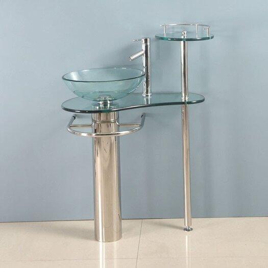 """Kokols 29"""" Single Pedestal Bathroom Vanity Set"""