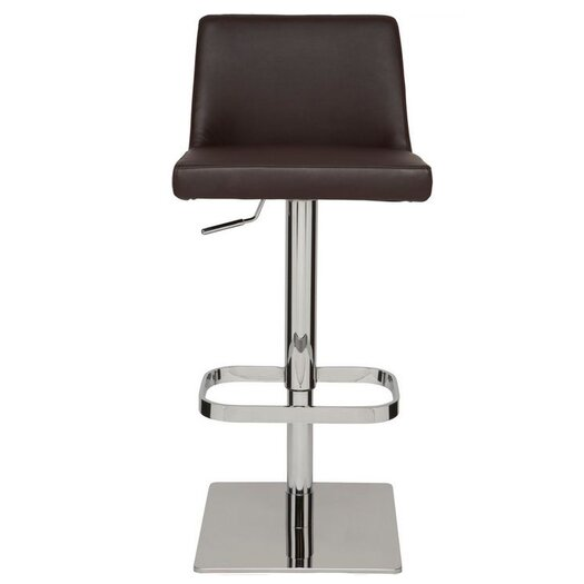 Nuevo Rome Adjustable Height Swivel Bar Stool with Cushion