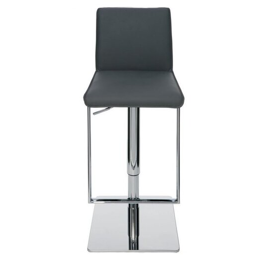 Detrick Adjustable Height Swivel Bar Stool with Cushion